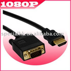 Gold HDMI to VGA Cable for PS3 HDTV HD DVD