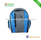 Blue polyester backpack for teenagers