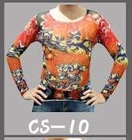 2012 t shirt,men t shirt, long sleeve Tattoo Tshirt ,special price ,mix designs