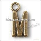 Charms Alloy Vintage Bronze Letter/alphahet Pendant 140877