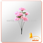 7 heads pink import china silk rose flower