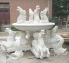 carved marble fountain