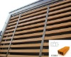 70*40mm rectangle shape WPC shutter, Wood composite facade,WPC sunshading, WPC window blind