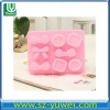 2012 high quality cute handcraft 8 pcs silicone ice cube tray