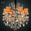 new simple elegance glass chandelier light with fabric shade