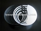 White & Black Cross Plastic Fruit Dish