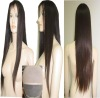 new fashion long straight human hair full lace wig