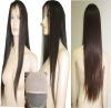 new fashion long straight human hair full lace wig