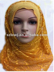 Bright colored lace flower fashion muslim hijab 2012