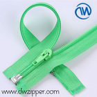 5# nylon auto lock zipper,open end,green tape,coil zipper with slider