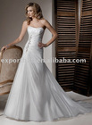 Princess sleeveless slim a line taffeta wedding dresses(wd11038)