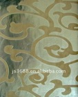 champagne silver foil wall paper
