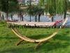 wood hammock set