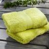 yarn-dyed satin face towel