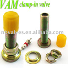 Bicycle CLAMP-in tire valve VAM