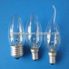 C35 Clear Tailed bulbs E27 40W 110-130V