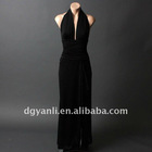 Best Selling Elegant Halter A-Line Floor Length Evening Dress 00544