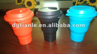 Nature designed coca cola silicone Mug/Silica gel Folding Mug/Rubber Collapsing Cup