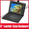 "USB Keyboard Leather Case with Stylus Pen For 8"" Android Tablet PC MID aPad ePad"