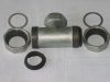Malleable Pipe Fitting iron Quick coupling tee