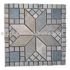 Muticolor natural wall slate mosaic tiles