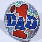 Metal Tinplate Plastic Round Pin Badge
