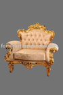 Classical&antique European style living room/sitting room furniture 1-seat resin fabric home/hotel furniture armed sofa