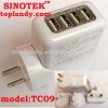 android phone charger with 4USB display us plug and 2.1A output current