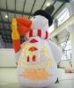Inflatable Santa snowman