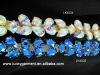 flower design rhinestone cup chain