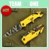 Oem Extrema Ratio Mf3 Golden Folding Blade Knife Rescue Knife Camping Knife Udtek00153