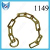 Gold Plated Metal Bag Chain with D ring