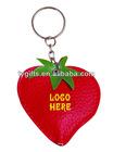 Strawberry shape led keychain