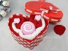 romantic heart festival gift box paper towel box