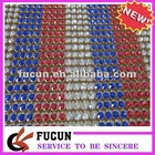mixing color rhinestone mesh heat transfer