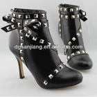 leather fashion lady high heels shoes woman 2012