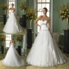 100% custom made high quality beaded ball gown sweetheart lace edge bridal wedding dresses