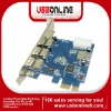 New USB 3.0 4 ports 5Gbps to PCI-E Expresscard Controller Card Adapter