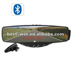 Rearview Bluetooth mirror with Hidden LED Display