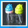 8oz outdoor plastic drinking bottle with straw
