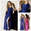MP1402 Custom-made Sexy Sweetheart One-Shoulder Beaded Floor-Length Sleeveless Hot-sale Backless Sexy Prom Dresses 2012