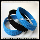 custom colorful silicone wristbands with debossed logo