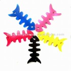 Flexible fish shape silicone cord winder for wire