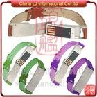 Fashion bracelet usb drive, new leather wristband usb flash drive