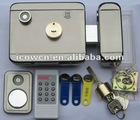 Electronic rim lock LY09 with wireless alarm, wireles remote, two reader, high security for your home