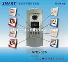 8 appartment video door phone intercom system with ID card reader