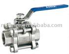 3pc type ball valve with internal thread ( stainless steel ball valve )