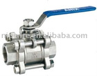 3pc type ball valve with internal thread ( stainless steel ball valve )