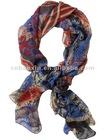 Fashion flower silk scarf