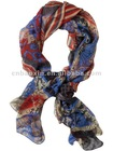 Fashion flower silk scarf